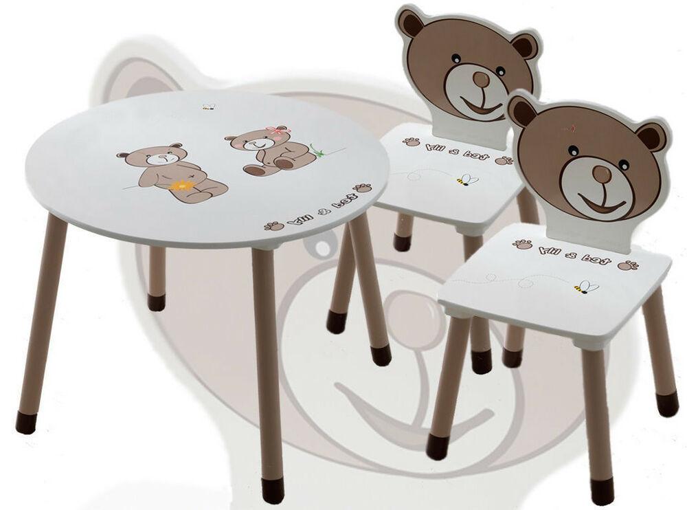 kinderm belset kinderset ted lily kindertisch 2 x kinderstuhl sitzgruppe tisch ebay. Black Bedroom Furniture Sets. Home Design Ideas