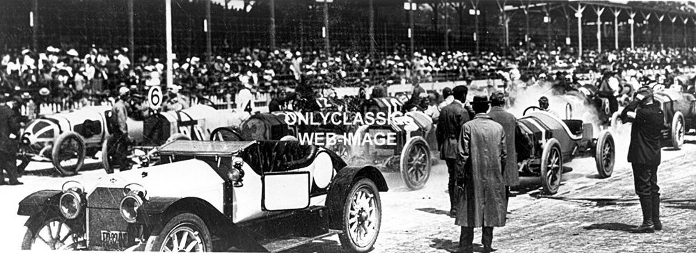 1912 indy 500 auto racing miller stutz pace car panoramic for Indianapolis motor speedway clothing