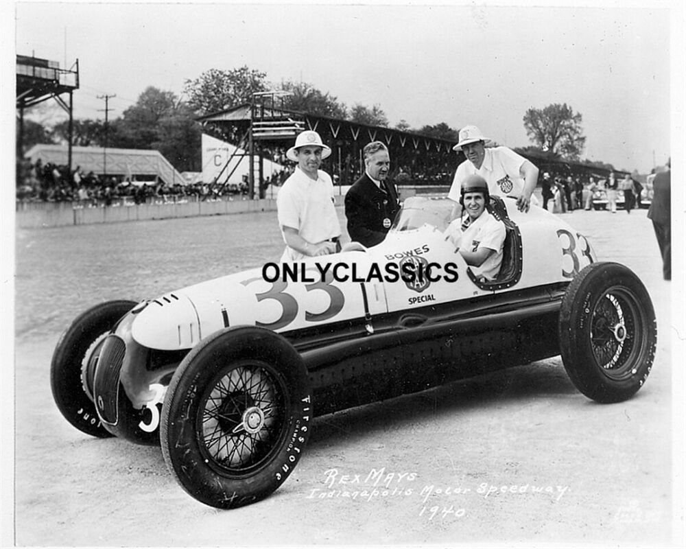 1940 Rex Mays Bowes Seal Racer Indy 500 Auto Racing Photo