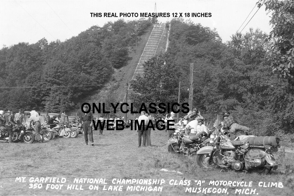 Motorcycle Hill Climb Race Muskegon Michigan Photo Indian