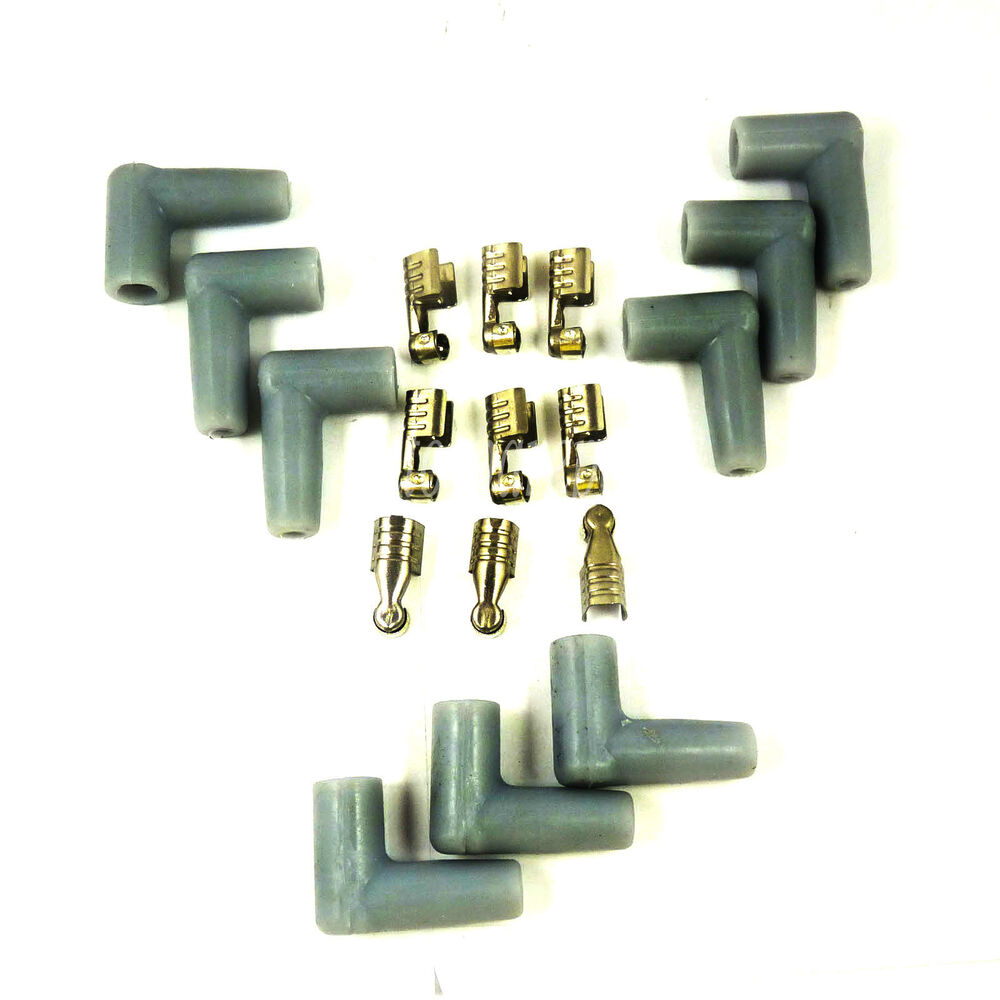 Spark plug wire male hei style rubber boots terminals ends