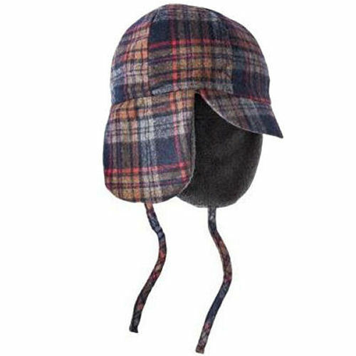 Details about New Blue Plaid Merona Trapper Hat 14279525 Target Warm Flaps  Cap One Size ab3dad4b042