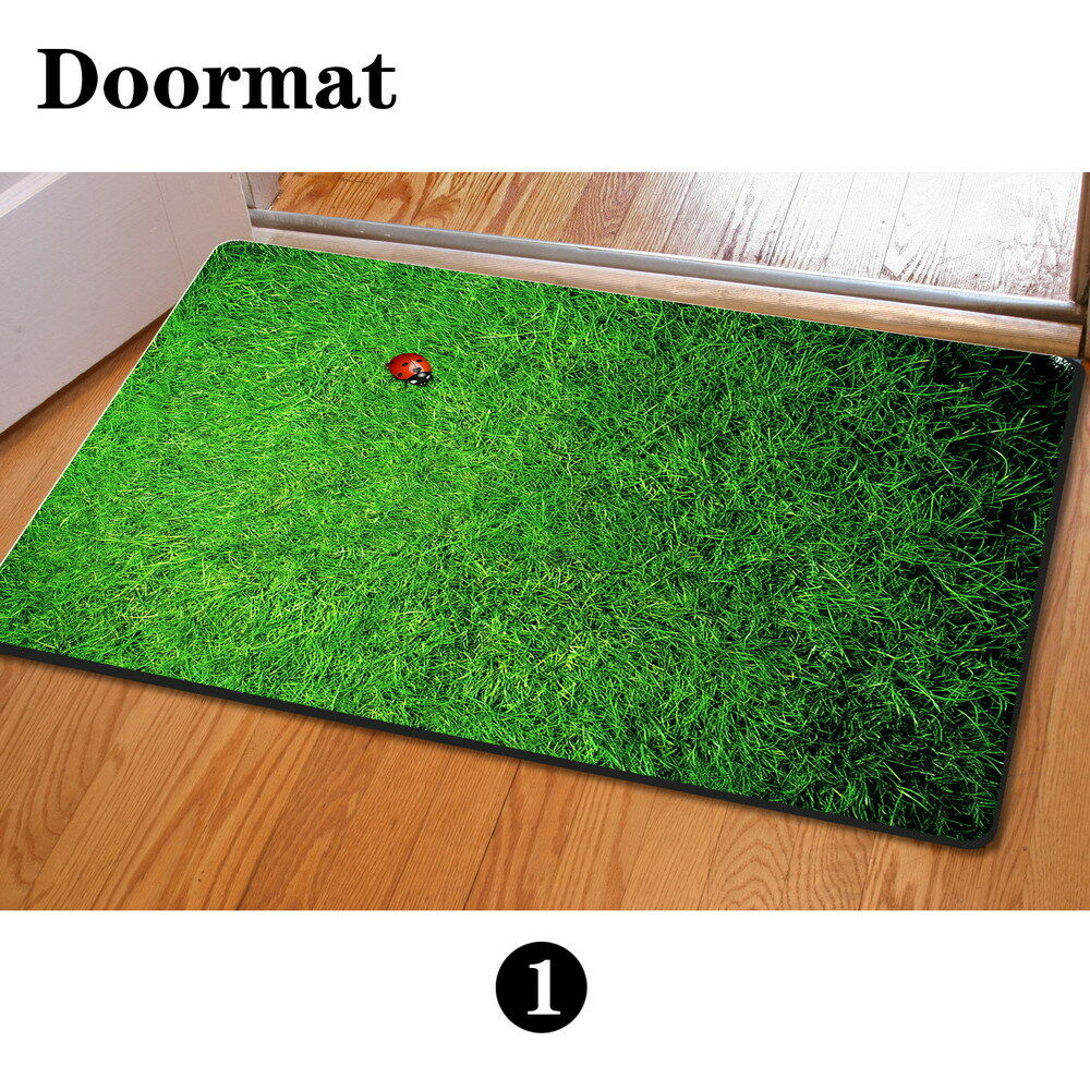 Green Grass Stylish Floor Carpet Area Rug Non-slip Doormat