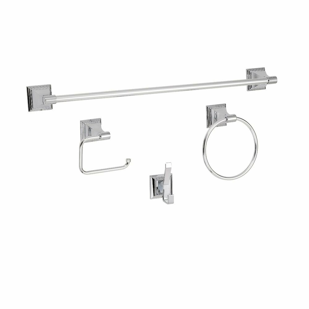 Luxury  Piece Towel Bar Bath Hardware Set Polished Chrome   BAHK2612478C