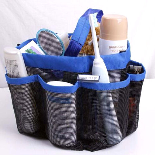 mesh shower tote caddy baskets hanging bag toiletry bath organizer college dorm ebay. Black Bedroom Furniture Sets. Home Design Ideas