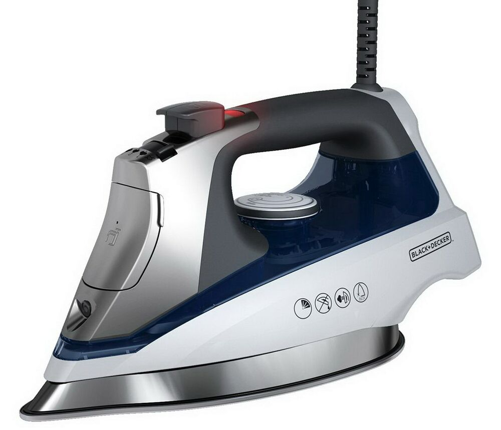 Steam Iron For Clothes ~ New black decker clothes steam iron stainless steel