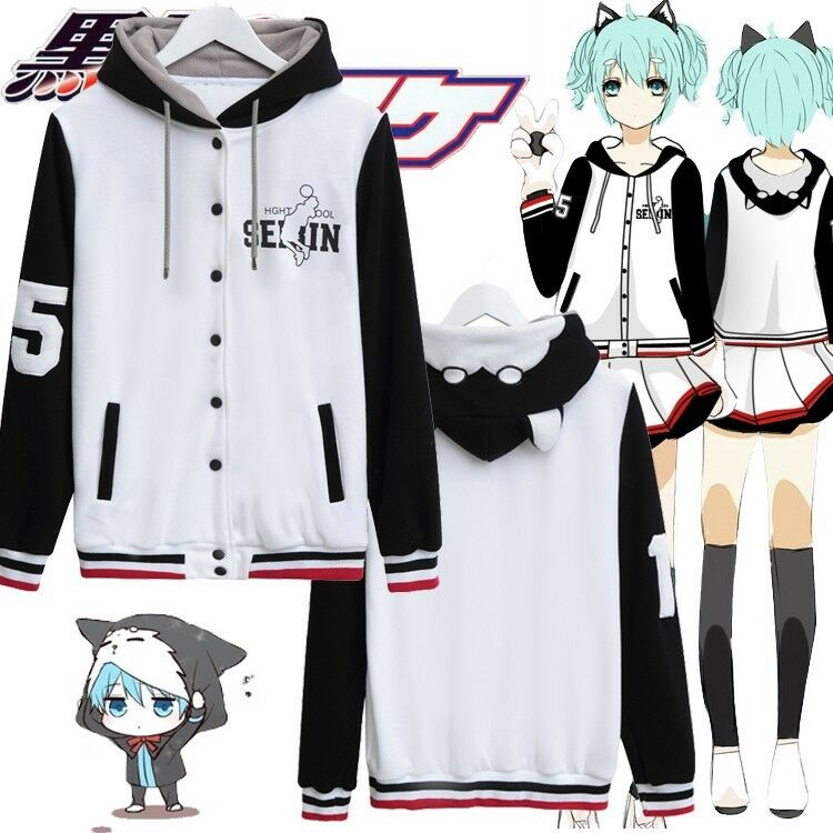 Anime Characters Jacket : Hot anime kuroko no basuke cosplay baseball jacket hoodie