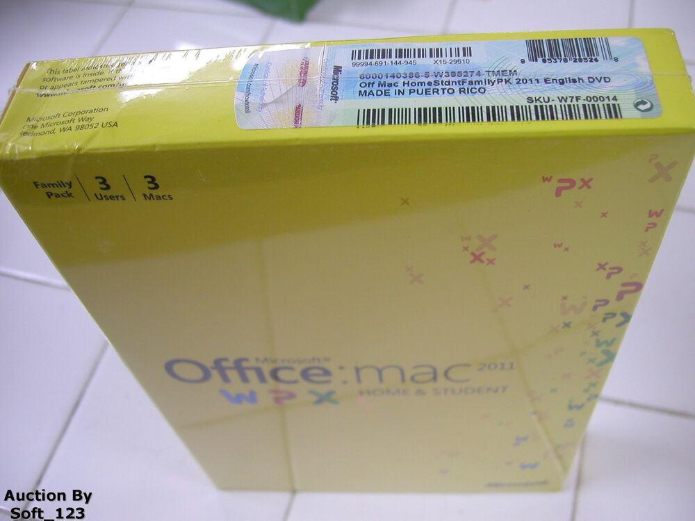 OEM Office 2011 Home and Student Family Pack