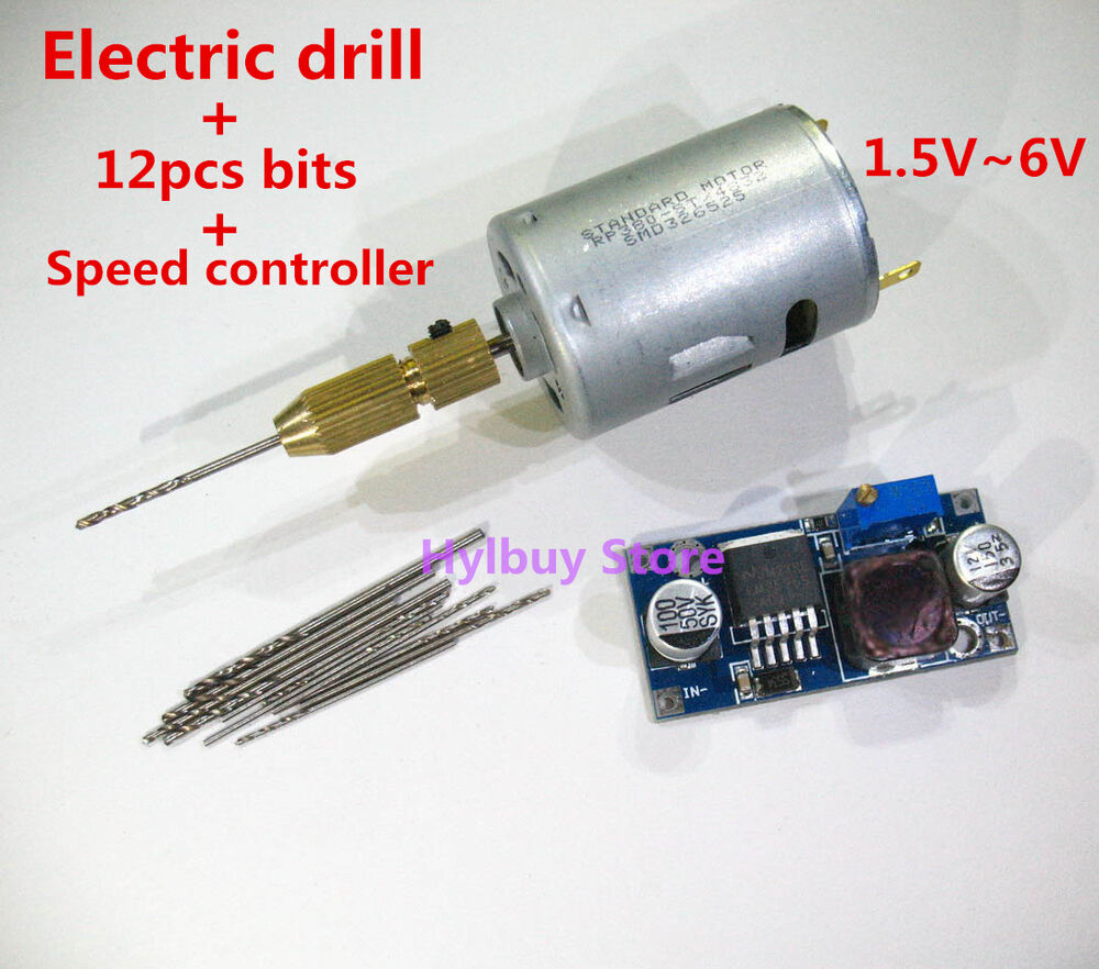 Small Motor Electric Drill Bits Speed Controller Diy