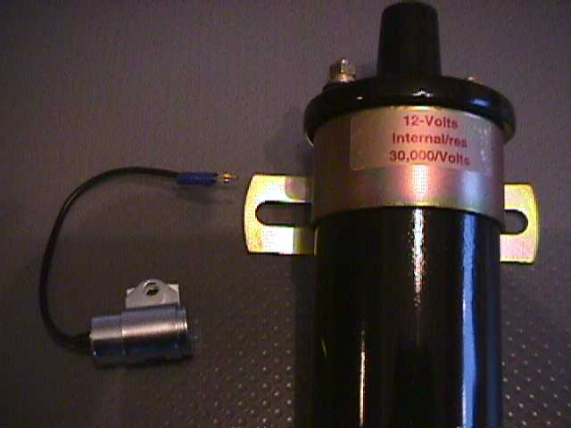 New High Output Kohler Battery Ignition Coil And Condensor