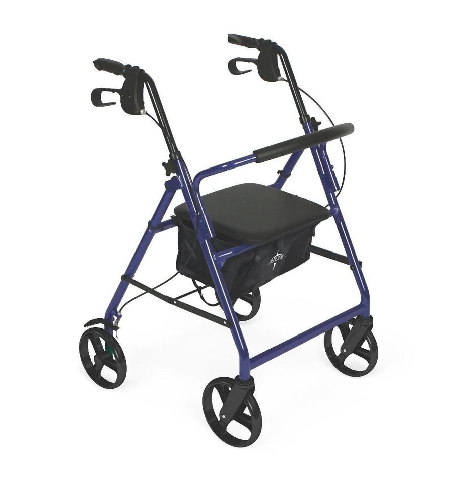 Medline Lightweight Rollator Medical Mobility Folding