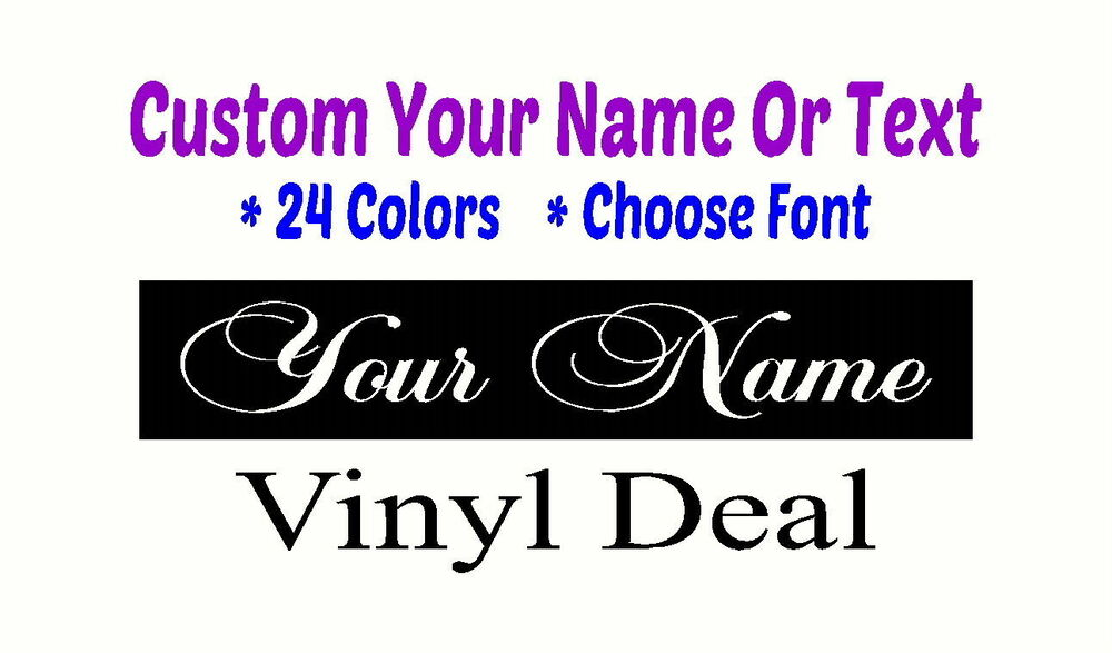 Custom vinyl text lettering tablet personalized wall for Custom wall letter stickers