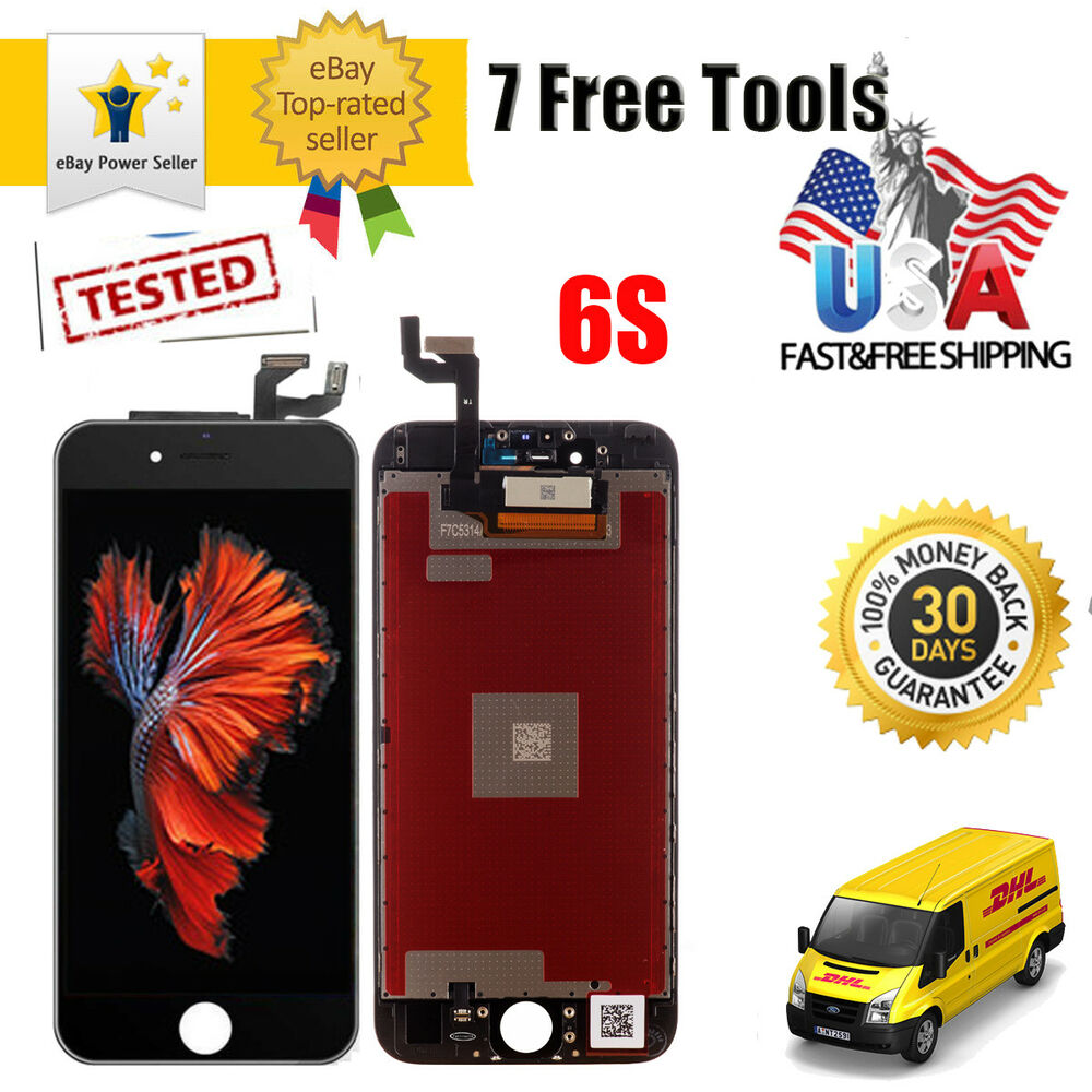 oem original black touch digitizer lcd screen assembly for iphone 6s replacement ebay. Black Bedroom Furniture Sets. Home Design Ideas
