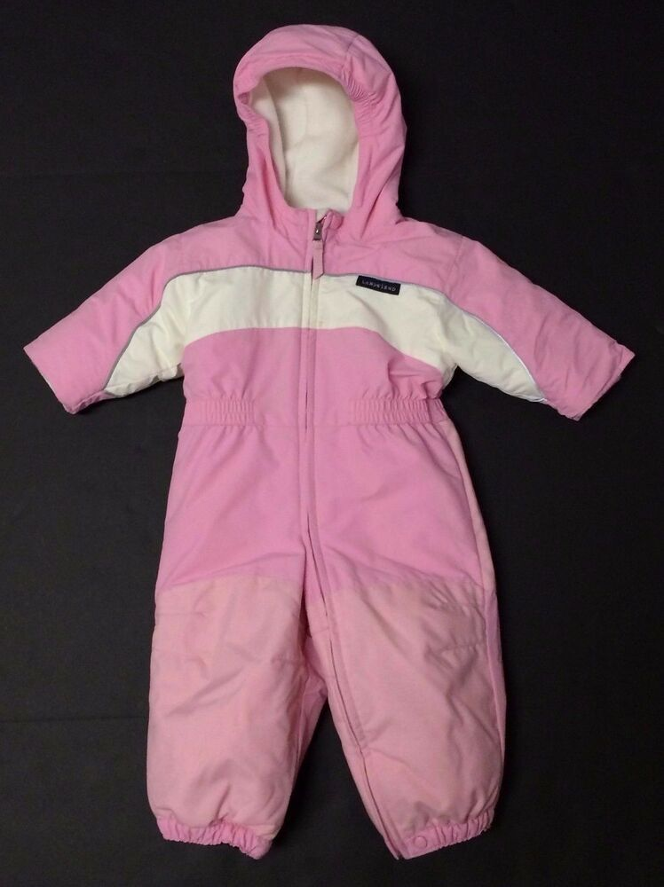 Lands End Size 12 18 Month Baby Girls One Piece Pink Snow