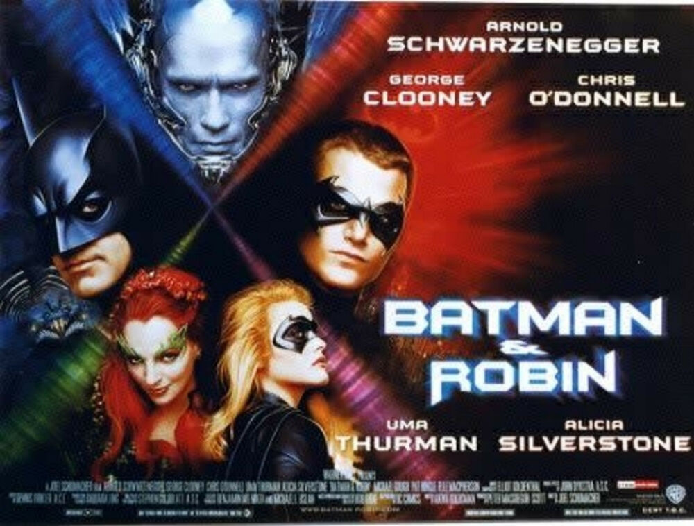 Movie Posters 1997: BATMAN AND ROBIN 1997 George Clooney, Arnold