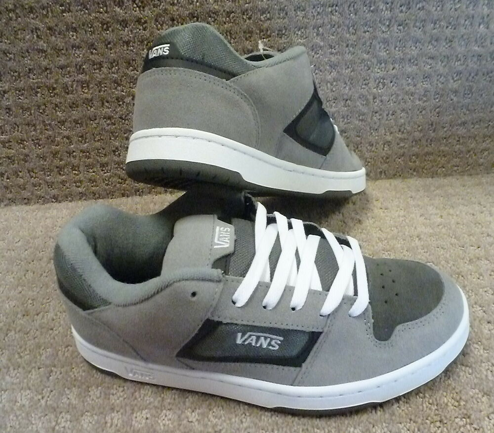 "Vans Men's Shoes ""Docket"" -- Grey/Charcoal/White 