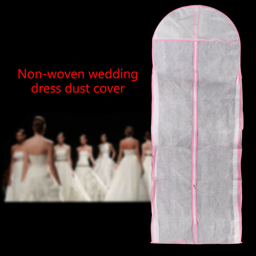Wedding Dress Clothes Cover Bridal Ball Gown Garment Storage Bag Hanging Bags