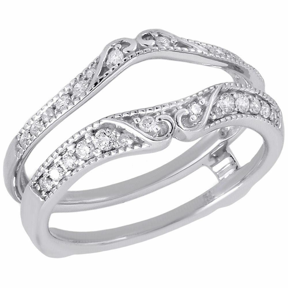 wedding ring enhancer 14k white gold solitaire engagement ring antique 9948
