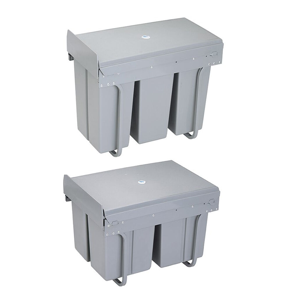 Recycle Pull Out Kitchen Cupboard Waste Dust Bin 30 40 Litre Soft ...