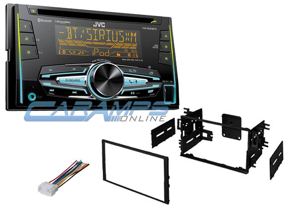 jvc double din car stereo radio deck w install kit. Black Bedroom Furniture Sets. Home Design Ideas