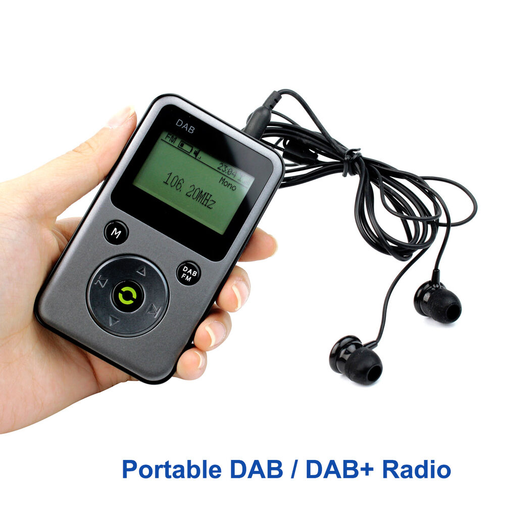 portable dab dab radio fm stereo receiver rec recoder tf card mp3 player ebay. Black Bedroom Furniture Sets. Home Design Ideas