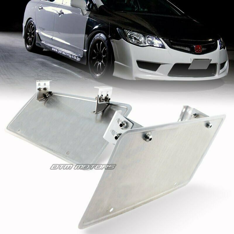 Jdm Adjustable Front License Plate Relocate Mounting