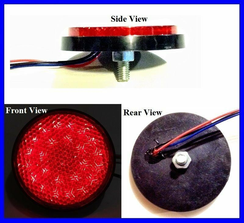 Flat Mount Round Red Led Light For Tail Turn And Brake