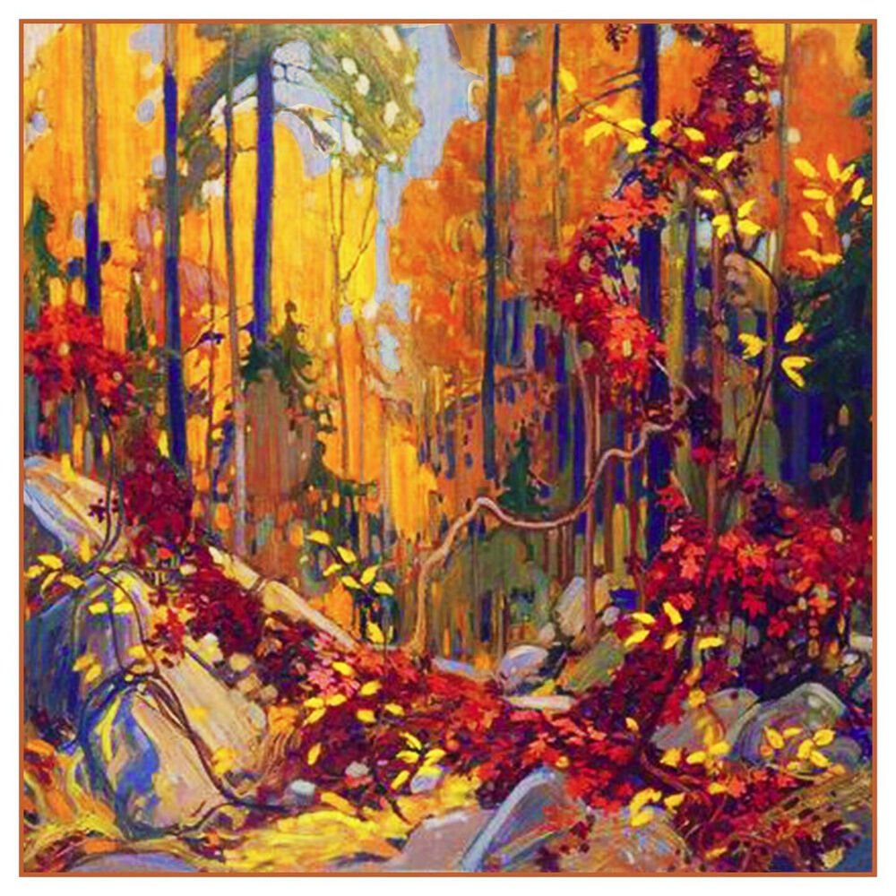 Tom Thomson Autumn Garland Ontario Landscape Counted Cross