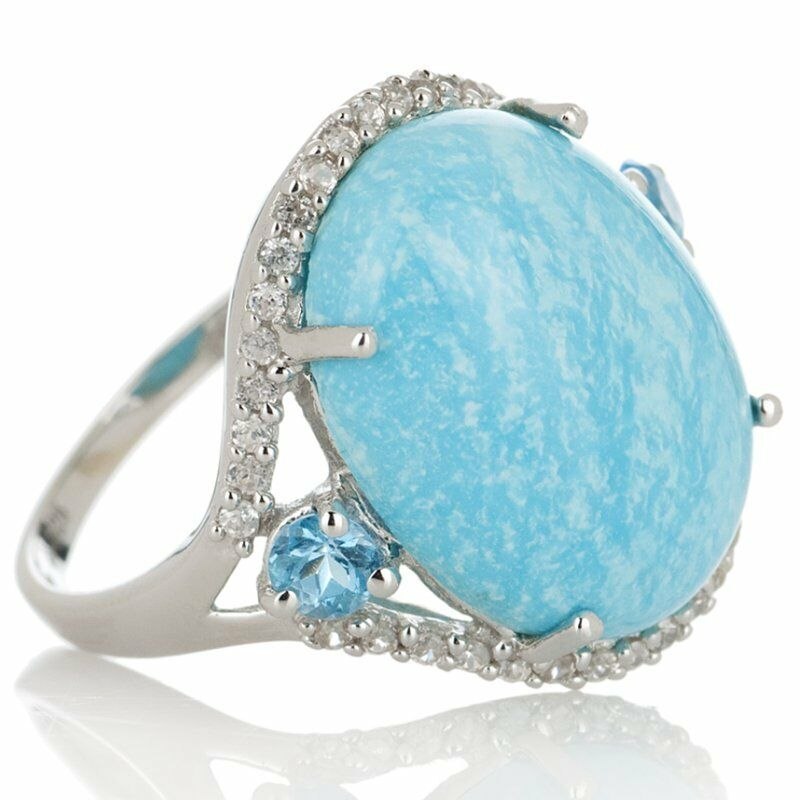 heritage gems sterling silver white cloud turquoise ring