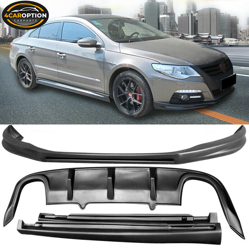 Fits 08-12 VW CC Polypropylene Front Rear Bumper Lip