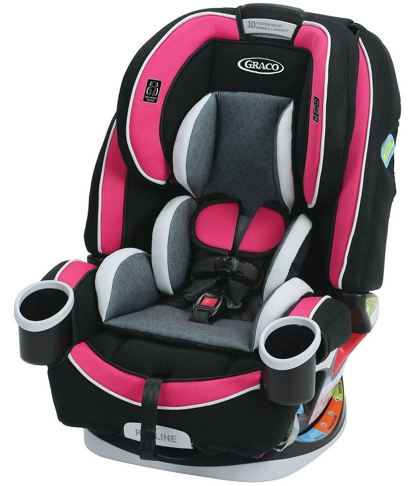 graco baby 4ever all in 1 convertible car seat infant child booster azalea new ebay. Black Bedroom Furniture Sets. Home Design Ideas