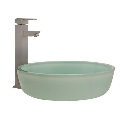 Signature Hardware Tea Green Glass Flat Bottom Vessel Sink Ebay