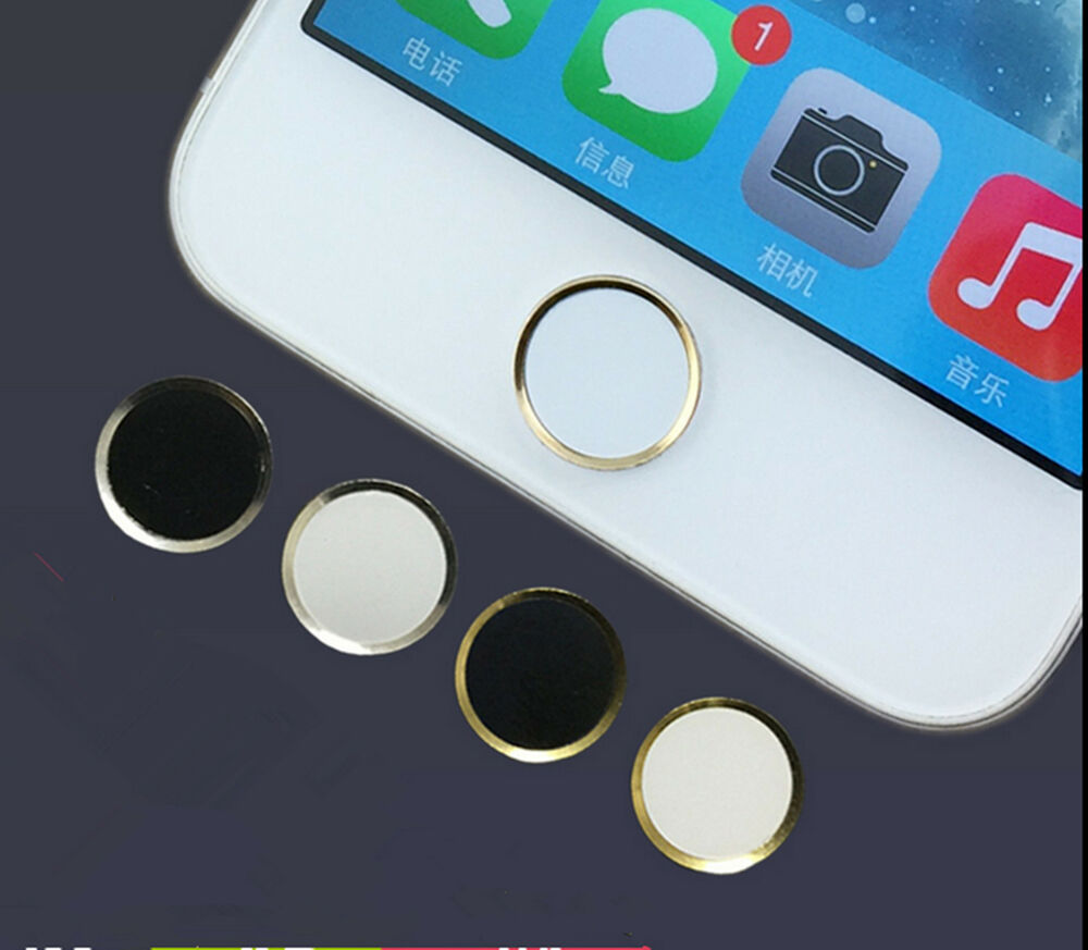 aluminium home button sticker metal for apple iphone 6 5s 5c touch ebay. Black Bedroom Furniture Sets. Home Design Ideas
