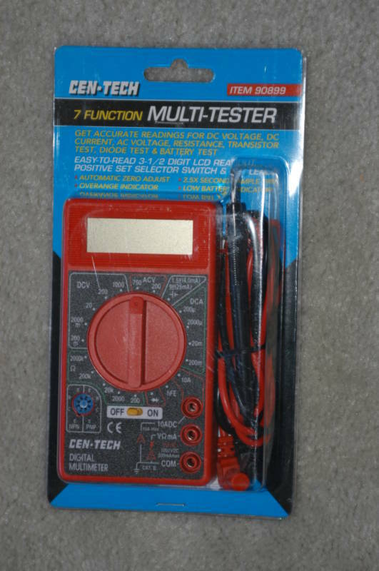 Backup Battery For Amp Meter : Function digital multimeter battery transistor tester
