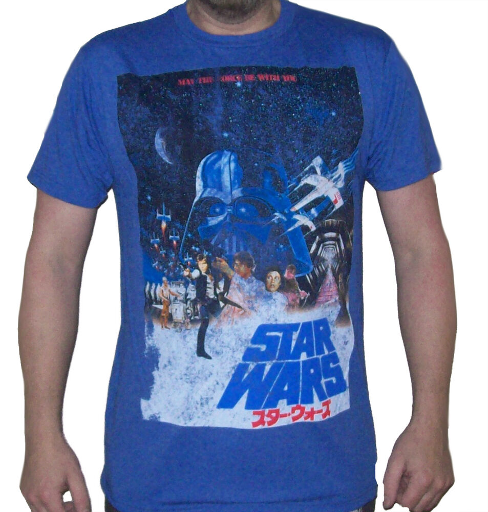Star wars distressed 1977 vintage japanese movie poster for Vintage star wars t shirts men
