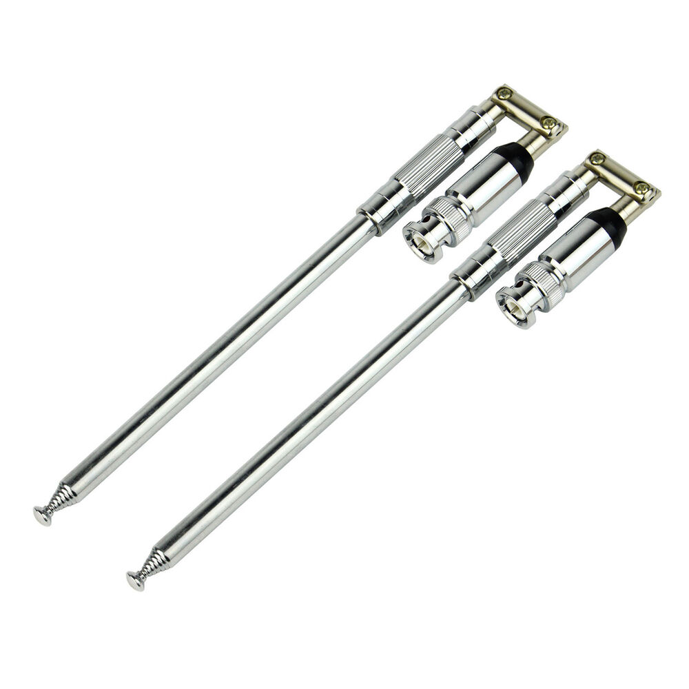 2x 1150mm stainless steel vhf bnc antenna fm 76