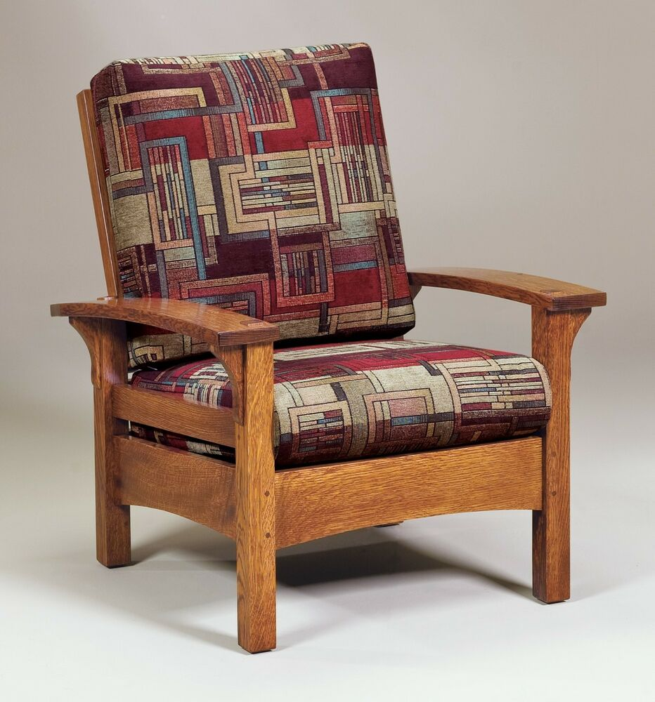 amish handcrafted mission arts amp crafts accent chair durango solid