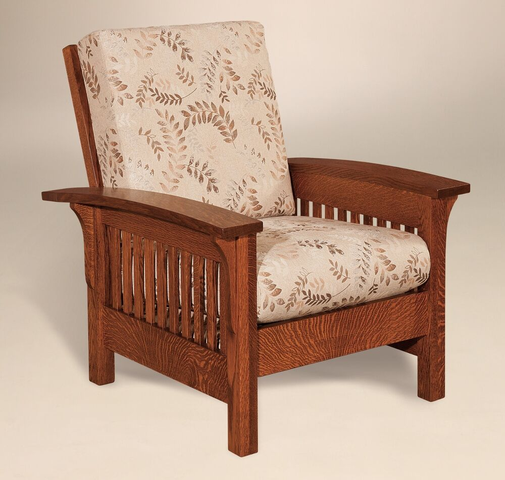 Amish handcrafted mission craftsman accent chair empire for Upholstered accent chairs cheap