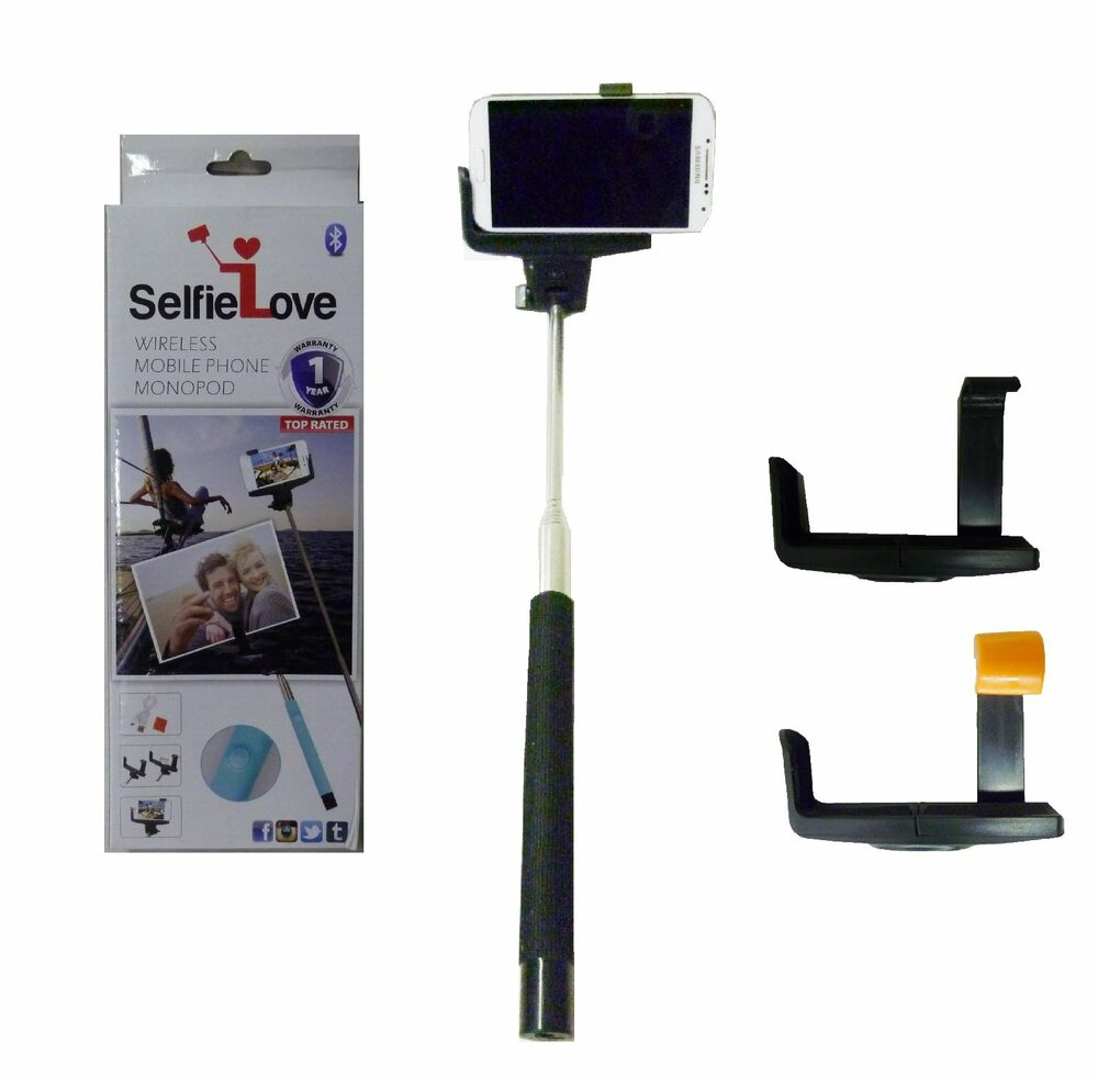 new selfielove wireless smartphone monopod bluetooth camera selfie stick black ebay. Black Bedroom Furniture Sets. Home Design Ideas