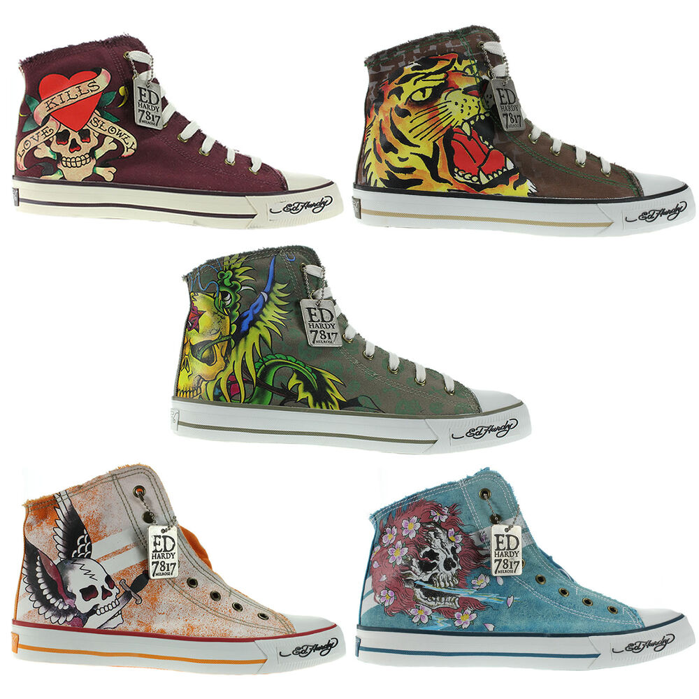 Ed Hardy Womens Canvas Shoes