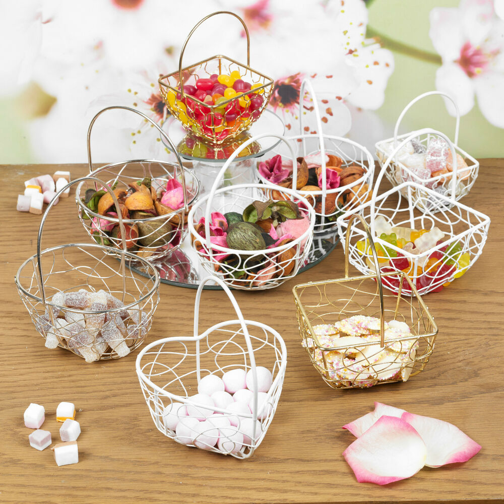 decorative baskets for wedding assorted wire metal mesh wedding table fancy decor 3445
