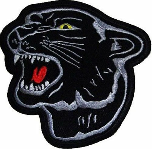 Jaguar head embroidered animal motorcycle mc club new