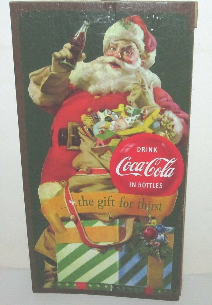 Coca Cola Coke Soda Vintage Style Santa Claus With Gifts Ad Art Retro Wood Sign Ebay