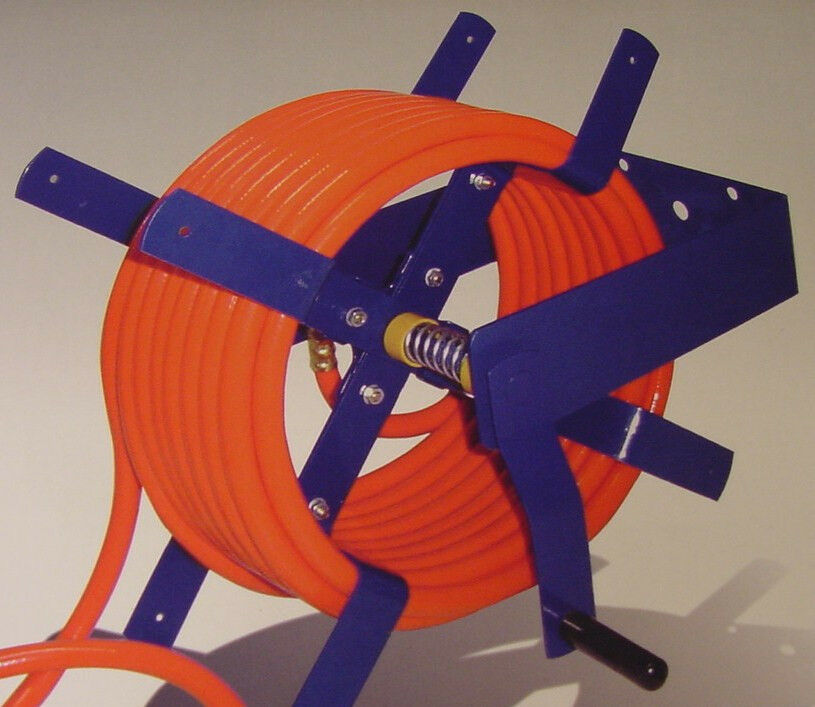 100 Ft Wall Mount Air Hose Reel 3 8 And 1 2 Tool New O
