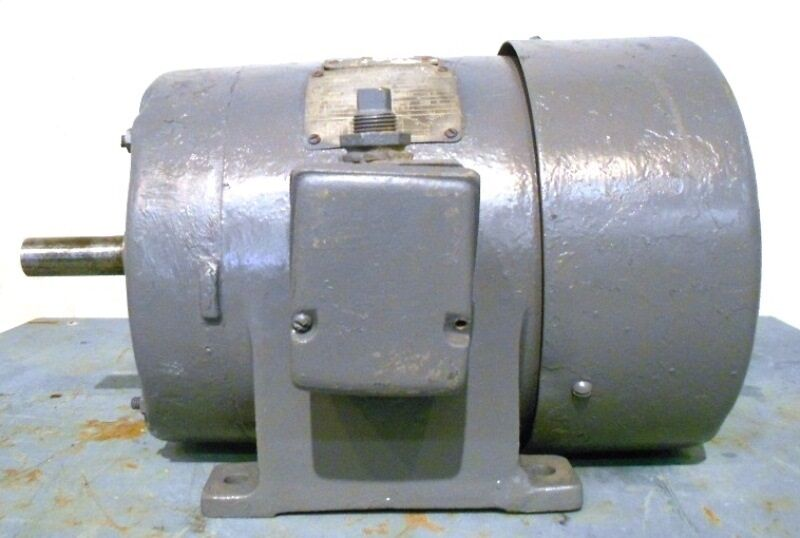 Ge triclad induction motor 5k215bg625 6hp 1155 rpm 220 for 1hp 3 phase motor