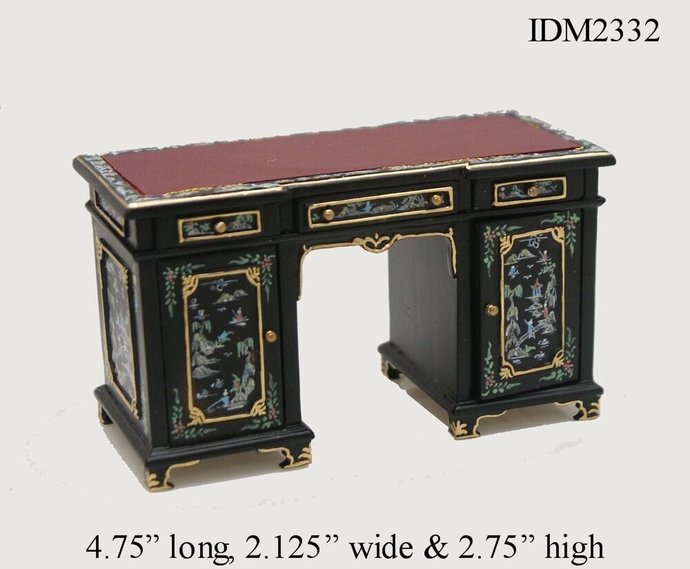 Dollhouse Miniatures Heirloom Collection Leather Top Desk