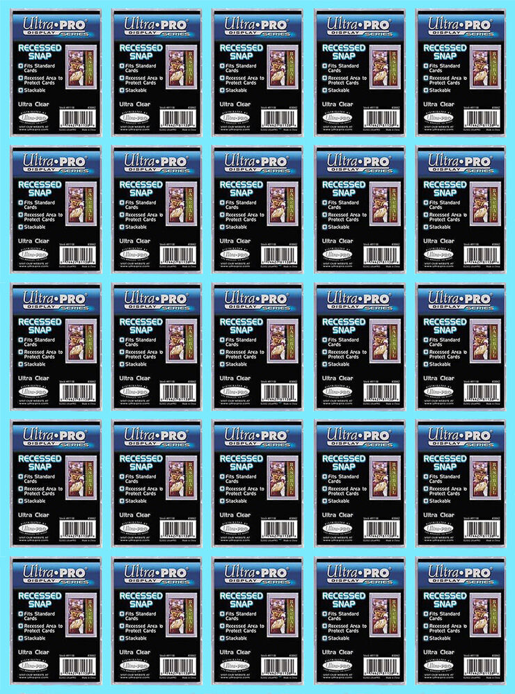 25 Ultra Pro Recessed Mini Snap Standard Size Trading Card