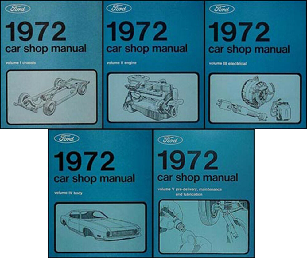 original 1972 lincoln shop manual set mark iv town car. Black Bedroom Furniture Sets. Home Design Ideas