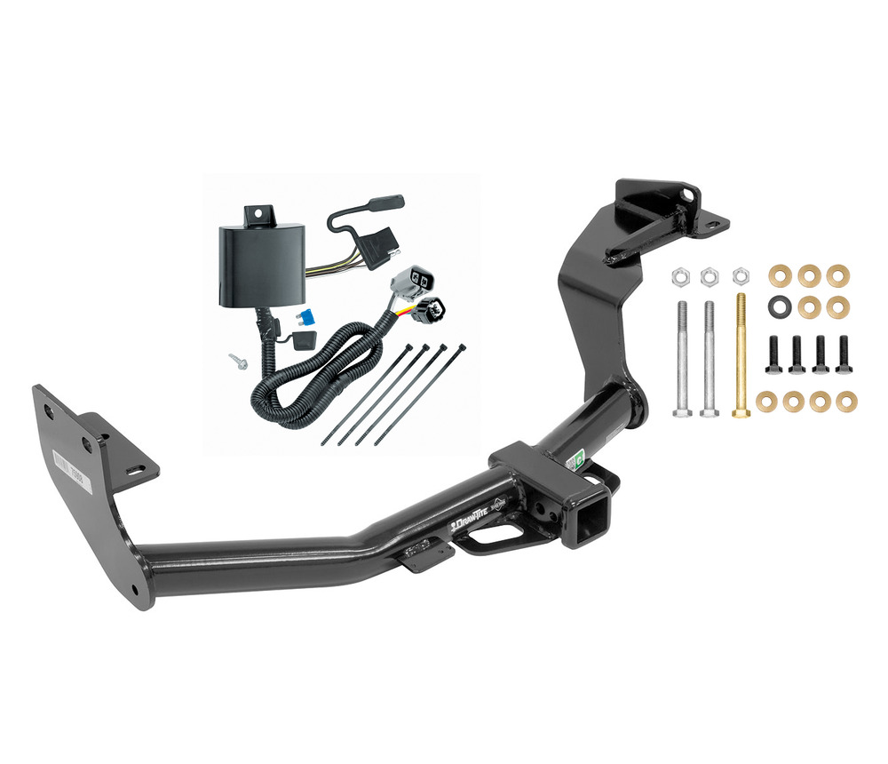 complete trailer hitch package w wiring kit ball mount. Black Bedroom Furniture Sets. Home Design Ideas