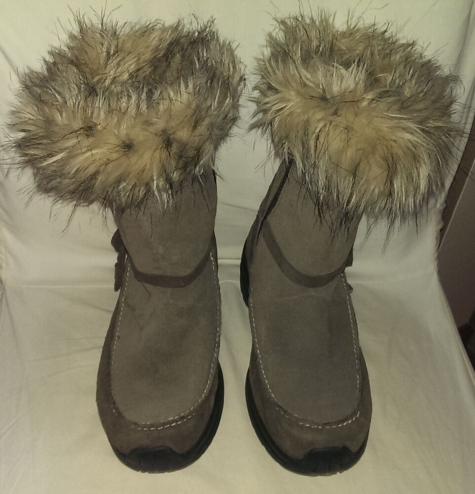 Sorel Boots Size 9 Northern Lights Tall Brown Thinsulate Fluffy Fur Winter Boot Ebay